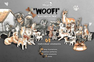'Woof!' illustration pack