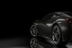 Dark background with car silhouette