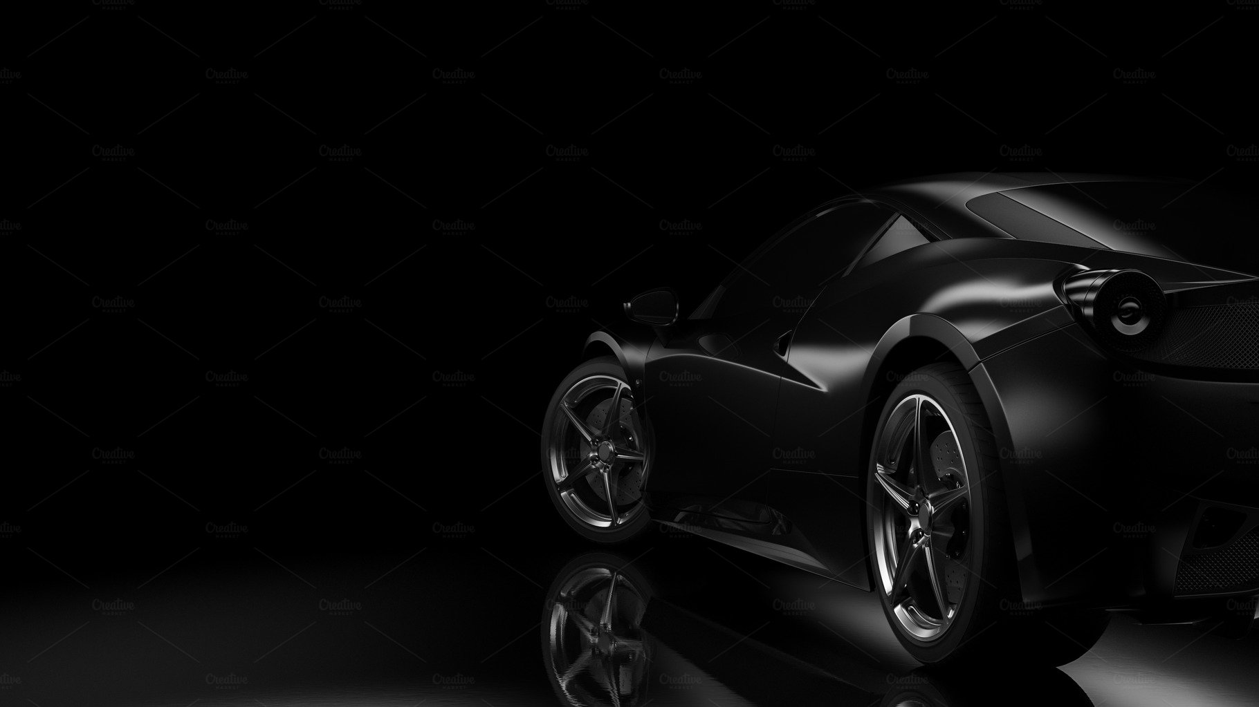 Dark background with car silhouette ~ Transportation ...