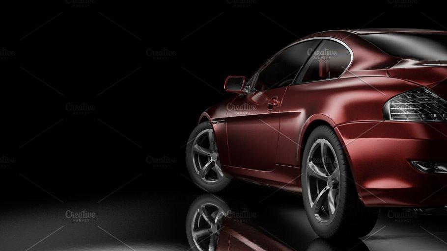 Dark Background With Car Silhouette Transportation Photos