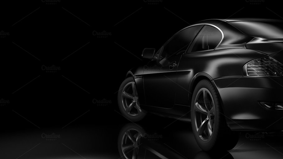 Dark Background With Car Silhouette Transportation Photos