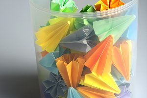 Colorful origami units