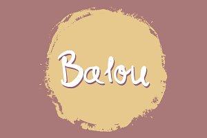 Balou Handwritten Font