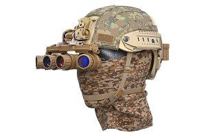 Helmet military googles