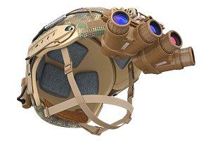 Helmet vision device