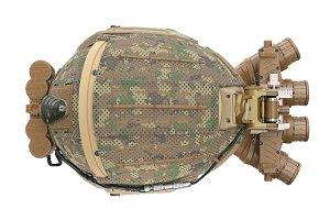 Helmet military, top view