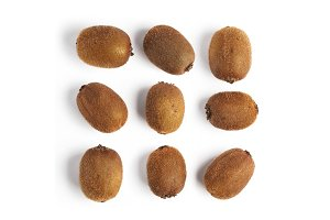 whole kiwi fruits pattern