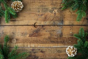 Christmas wood background VIII