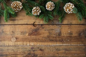 Christmas wood background VII