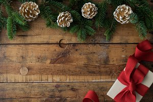 Christmas wood background VI