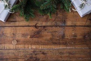 Christmas wood background V