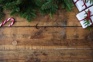 Christmas wood background IV