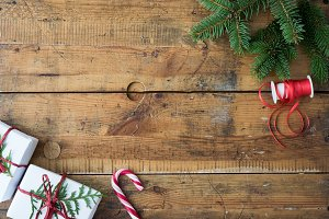 Christmas wood background II