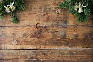 Christmas wood background I