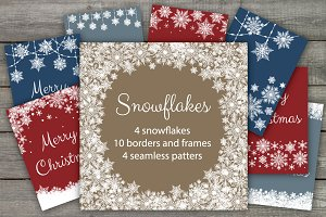 Snowflakes Borders and Patterns