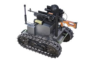 Military robot weapon