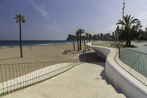 Benidorm promenade (Alicante).