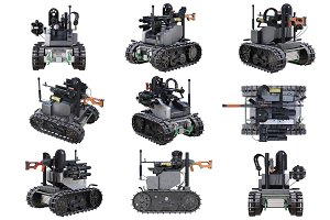 Military robot tank set
