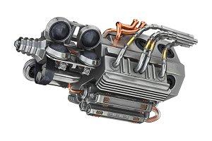 Sci-fi futuristic motor