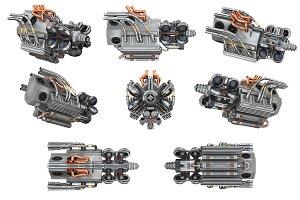 Sci-fi engine car set
