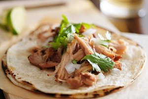 authentic mexican carnitas taco