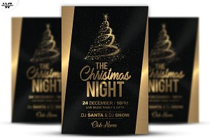 CHRISTMAS NIGHT Flyer Template