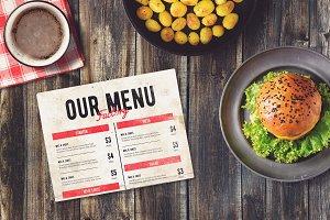 Burger Bar Menu Mock-up #1