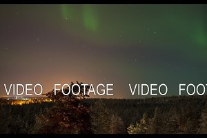 Timelapse of night skyscape with north lights