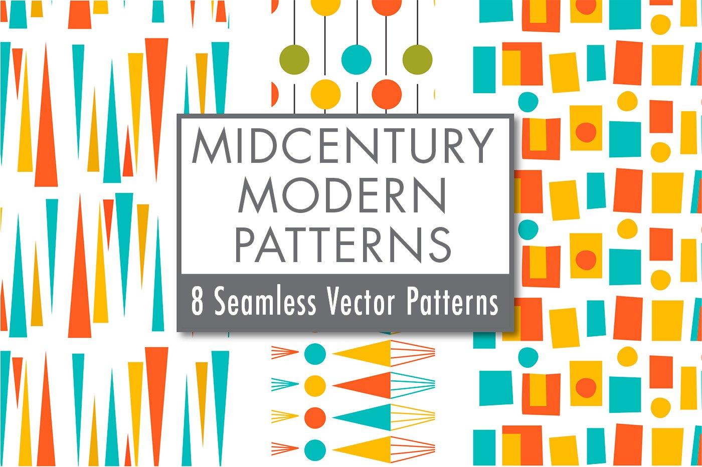 mid century modern patterns retro graphic patterns creative market. Black Bedroom Furniture Sets. Home Design Ideas