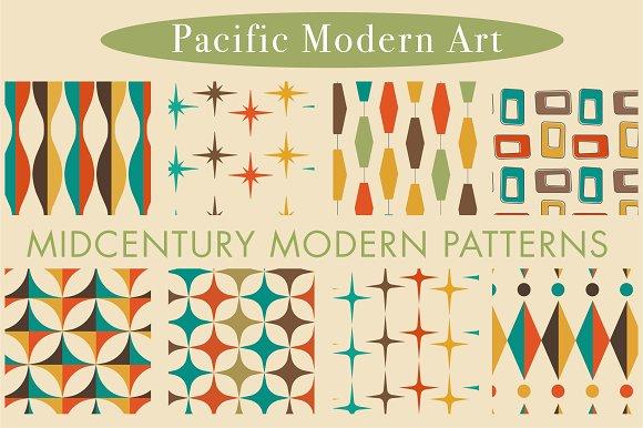 Mid Century Modern Patterns Vol 2 Graphic Creative Market
