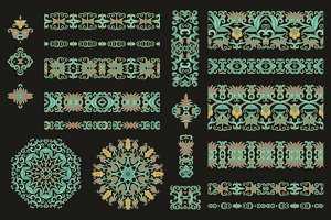 Seamless ribbons,decorative elements