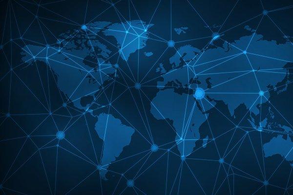 Blockchain technology futuristic hu…