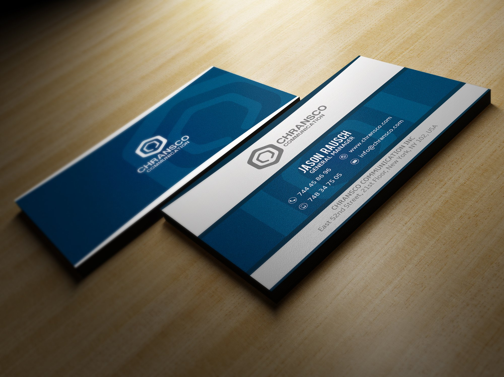 White And Blue Business Card ~ Business Card Templates ~ Creative Market