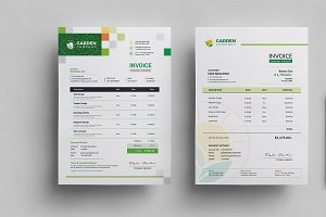 Garden Work Invoice and Logo