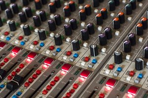 Music console background