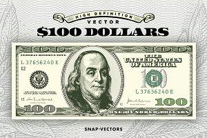 Vector $100 Dollars
