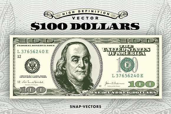 Vector 100 Dollars