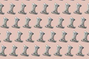 Ice skates pattern