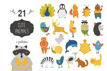 Cute animals collection+pattern2