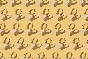 Deer repeated Background
