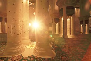 Sun illuminates interior