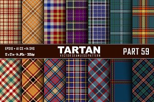 Seamless  Tartan Pattern Part - 59