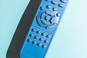 TV remote unicolor colored