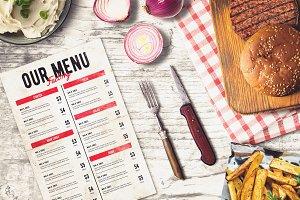 Burger Bar Menu Mock-up #2