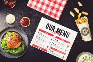 Burger Bar Menu Mock-up #3