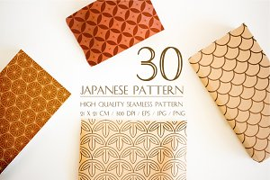 Japanese pattern seamless vectors