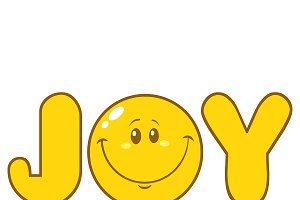Simple Joy Yellow With Smiley Face
