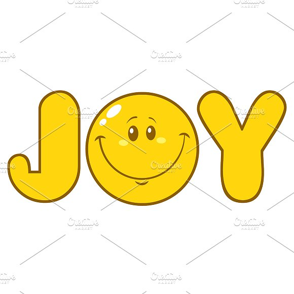 Simple Joy Yellow With Smiley Face Illustrations Creative Market