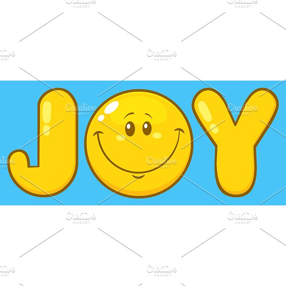 Joy With Smiley Face Character Illustrations Creative Market
