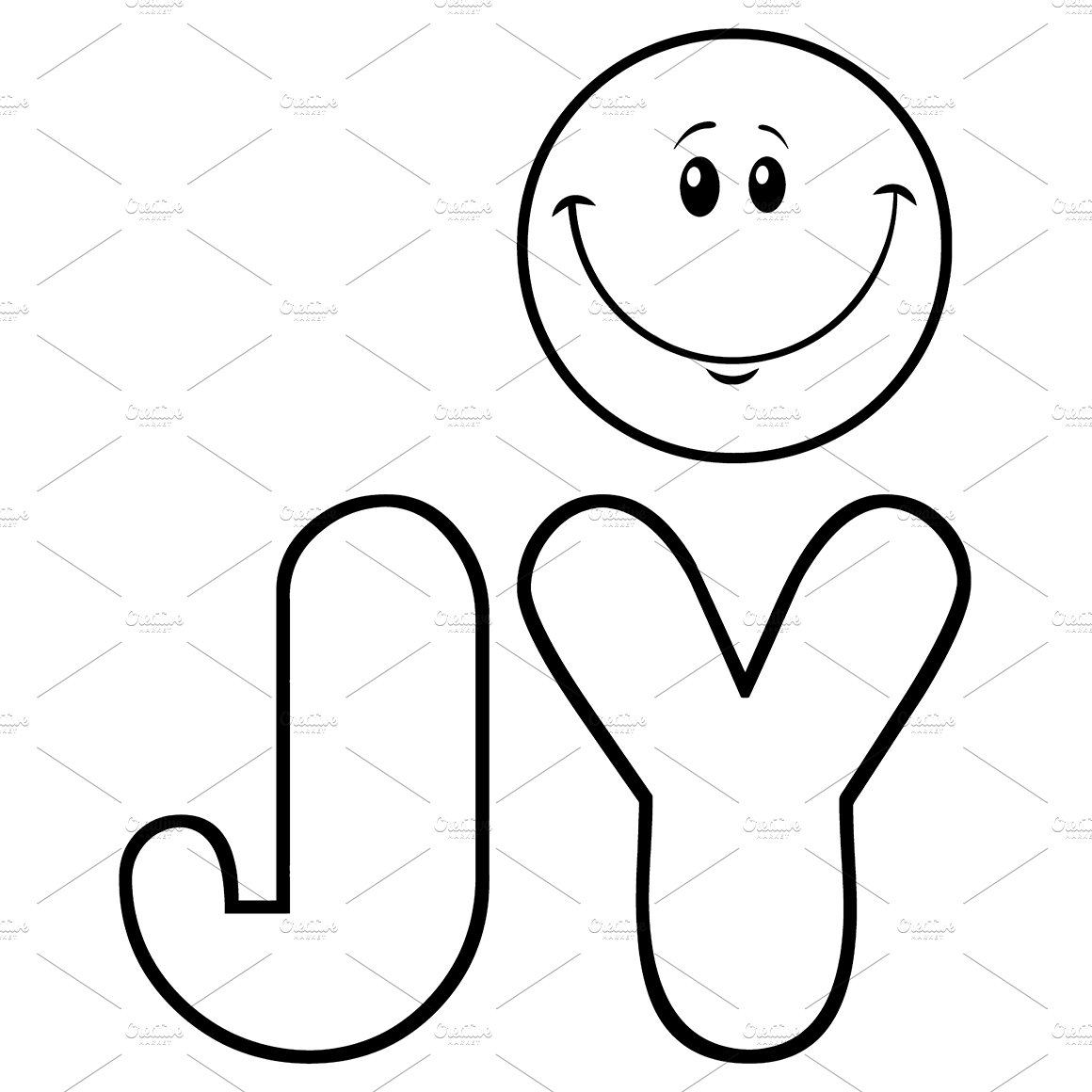 Black And White Joy With Smiley Face ~ Illustrations